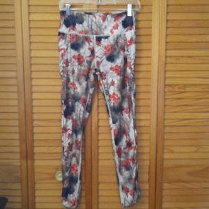 Kyodan Floral Print Ankle Length Leggings